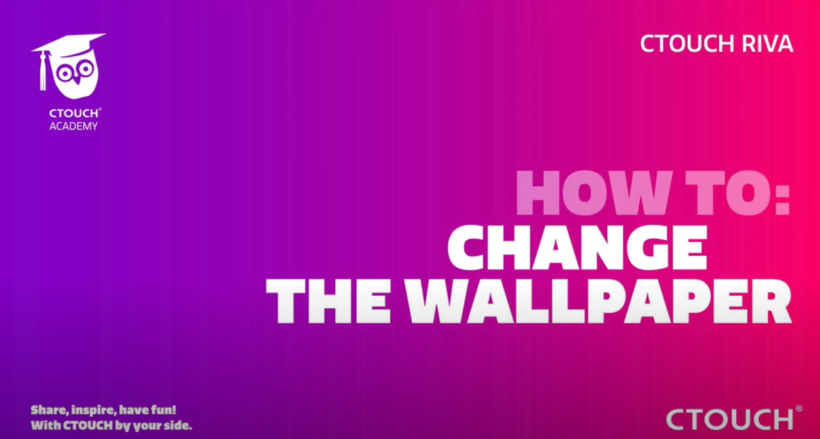 How to change the wallpaper