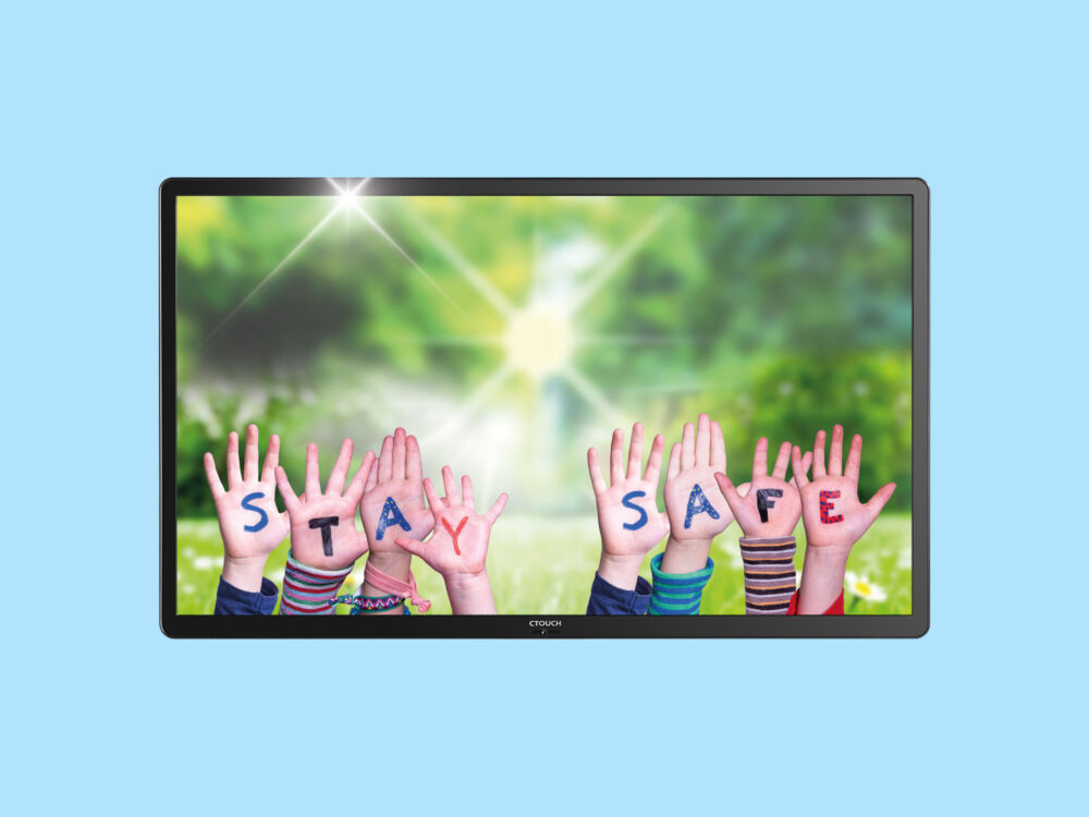 Ctouch display stay safe bluebg
