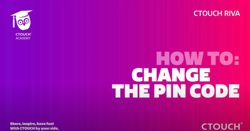 Academy how to change the pincode