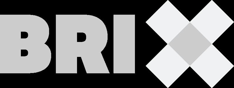 Brix logo grijs