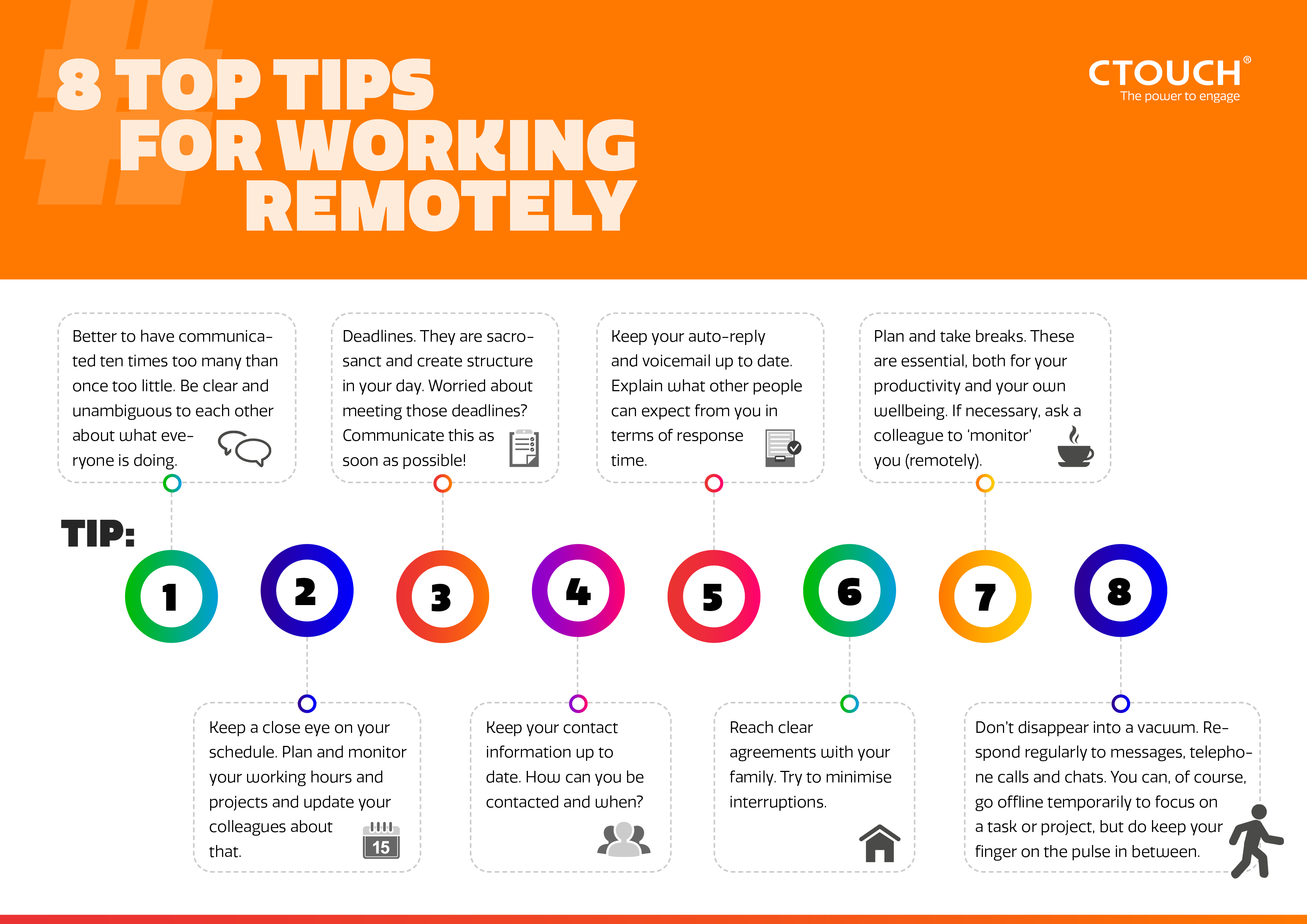 8 Top Tips Infographic